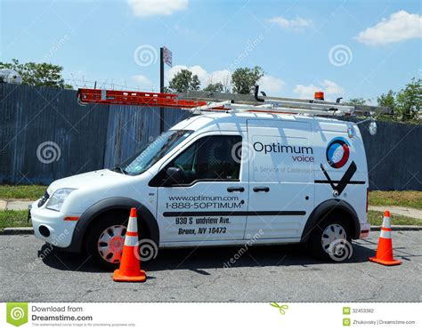 Optimum Cable Service Truck In Brooklyn Editorial ...
