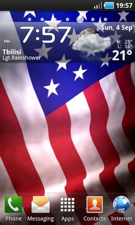 Animated American Flag Wallpaper - animated american flag live wallpaper au