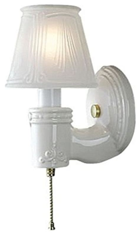 pull chain wall sconce traditional white gloss ceramic pull chain wall sconce