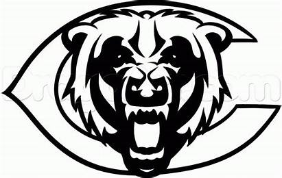 Bears Chicago Coloring Draw Pages Step Drawing