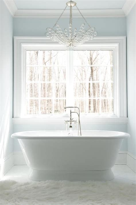 glass bubbles chandelier  roll top bathtub