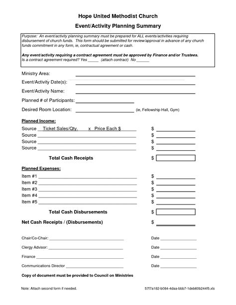 7 Best Images Of Event Planning Forms Free Printable
