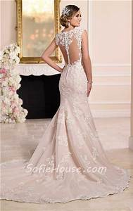 mermaid sweetheart sheer see through back lace wedding With see through lace back wedding dress