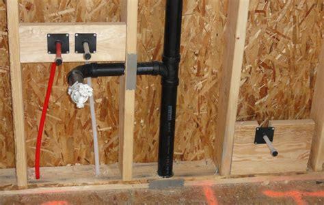 vanity sink offset  degree bend   wall