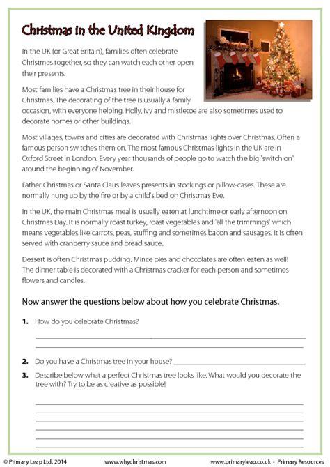 reading comprehension christmas   united kingdom