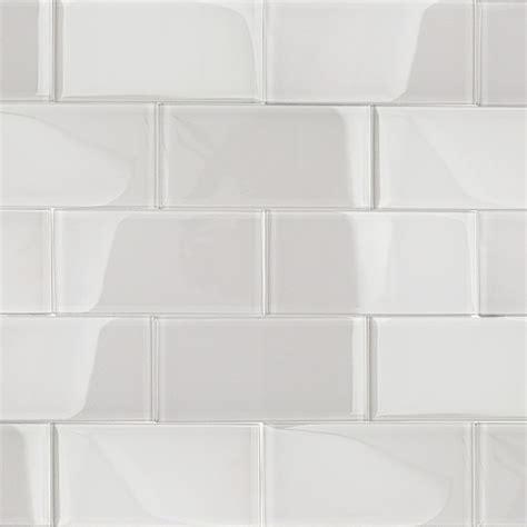menards white subway tile 3x6 shop for loft white polished 3 quot x 6 quot glass tiles at