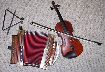 Cajun Instruments Accordion Fiddle Traditional Musical Instrument