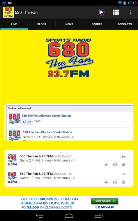 680 the fan listen live 680 the fan android apps on google play