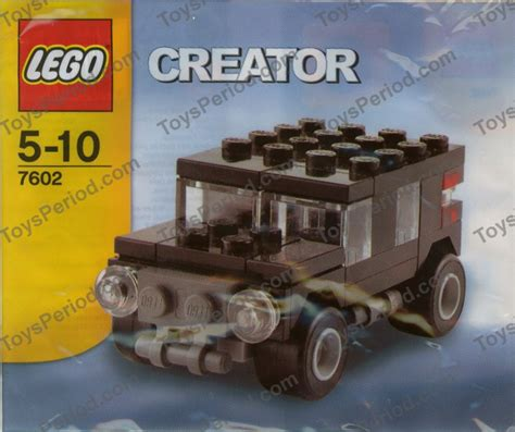 Lego 7602 Jeep Set Parts Inventory And Instructions Lego