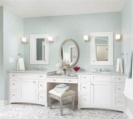 double sinks with make up vanity bathrooms pinterest