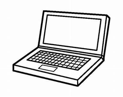Laptop Computer Coloring Colorear Coloringcrew