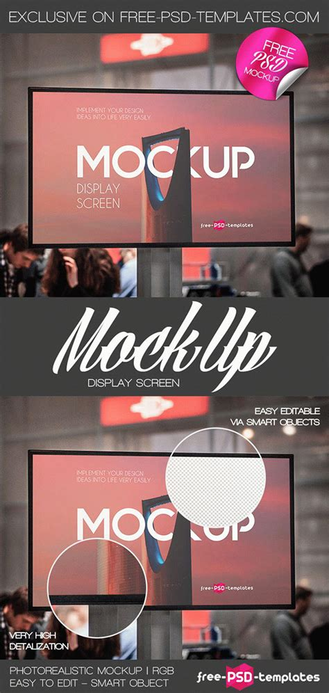 The biggest source of free photorealistic glass mockups online! Free Display Screen Mock-up in PSD on Behance