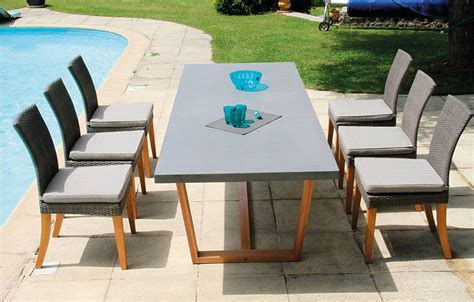 table de jardin chaises best table de jardin bois et verre ideas awesome interior home satellite delight us