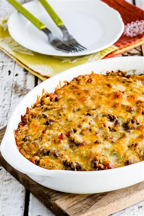 cheesy  carb taco casserole video kalyns kitchen