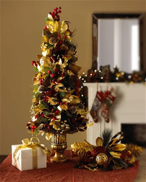 maroon christmas decorations burgundy gold tree topiary traditional decorations by horchow