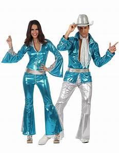 60 Jahre Style : 70s disco paarkost m set blau silber ~ Markanthonyermac.com Haus und Dekorationen
