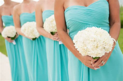 pool blue bridesmaid dresses how to plan a blue theme wedding