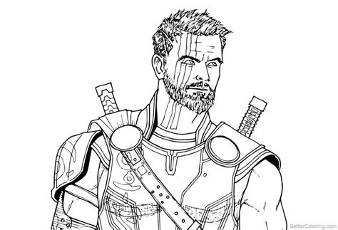 8 thor drawing infinity war for free download on ayoqq