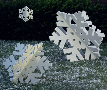 super sized snowflake trio large format paper