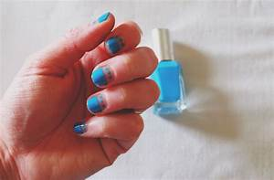 Diy Colour Block  U0026 Dots Nail Art