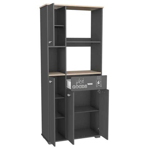 cdiscount meubles de cuisine meuble cuisine buffet avec 3 portes et 1 tiroir gris 90 x