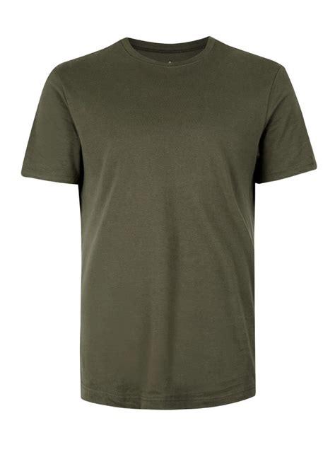 t shirt khaki jersey slim fit t shirt topman