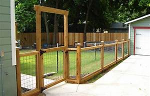 thinking of a low fence like this to surround our raised With attractive dog fence