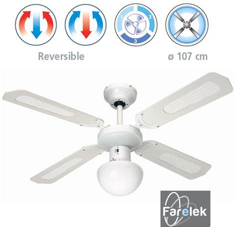 ventilateur de plafond reversible ventilateur luminaire de plafond bali blanc farelek ilya2too