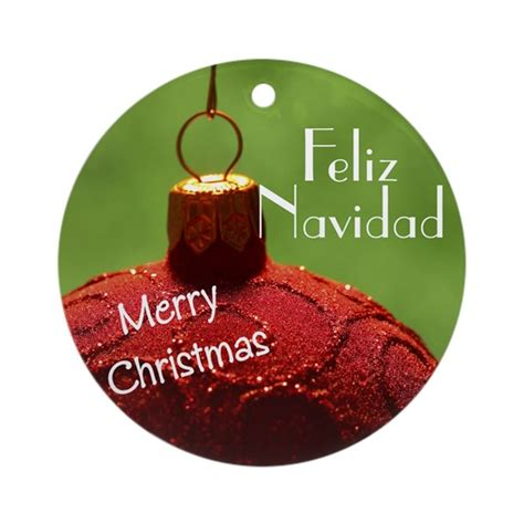 Spanish Christmas Ornament (round) By Colorfulfamily