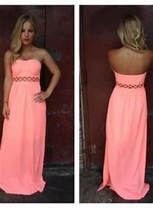 Strapless Maxi Dresses on Pinterest