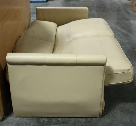 Rv Furniture Used Rv Ultra Leather Jack Knife Sleeper Sofa