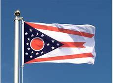 USA Ohio Flagge, amerikanische Fahne 60x90 cm