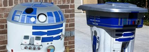 R2-d2 Bbq Smoker And Garbage