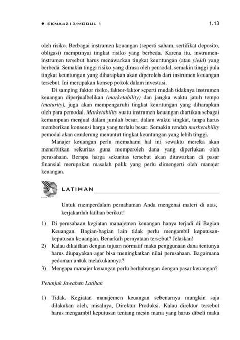 BMP EKMA4213 Manajemen Keuangan