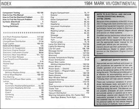 1987 lincoln continental and mark vii electrical troubleshooting manual original ebay 1984 lincoln continental mark vii electrical troubleshooting manual
