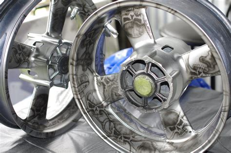 Airbrushed Motorcycle Wheels By Alisonarts