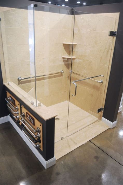 crl frameless handicap shower  header majestic