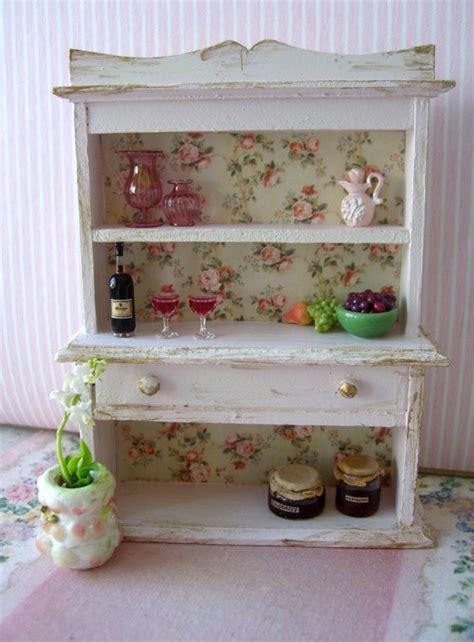 shabby chic dollhouse shabby chic miniature rose hutch treasury by clarabellasminis 25 00 miniatures pinterest