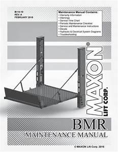 Maxon Bmr Series Liftgate Parts Manual