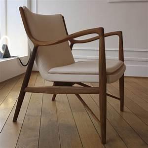 fauteuil design bois et tissu idees de decoration With fauteuil design bois
