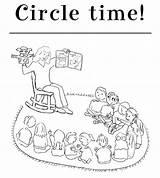 Circle Coloring Kindergarten Sky sketch template