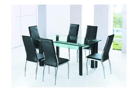 table de cuisine d appoint table salle a manger en verre alexandra noir ivoire