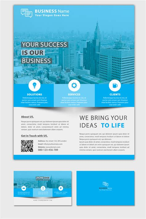 business flyer  business card corporate identity