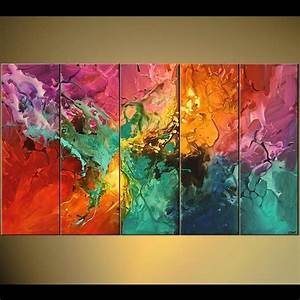 Original, Contemporary, Abstract, Acrylic, Painting, By, Osnat