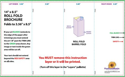 roll fold brochure template brochure templates central