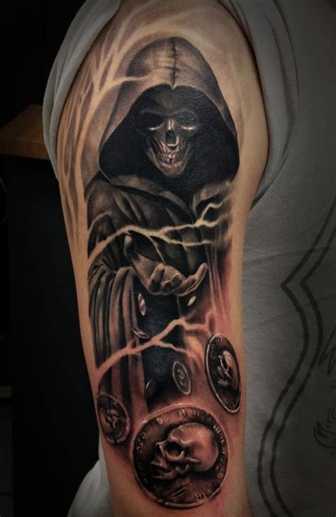 Good Halloween Tombstone Names by 35 Cool Amp Cryptic Grim Reaper Tattoos