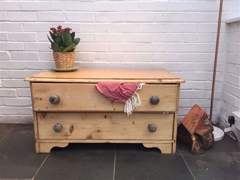 Two Drawer Chest Of Drawers by Antique Pine Chest Of Drawers Low 2 Drawer Solid Light