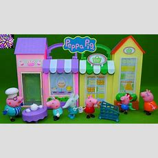 Peppa Pig Toys Little Bakery Shop Little Grocery Store Playset Cooking With Daddy Pig Tea Time