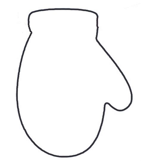 mitten template mittens outline search results calendar 2015