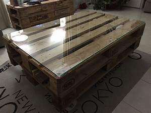 Table En Palette : la table basse en bois de palette galerie avec table salon ~ Melissatoandfro.com Idées de Décoration